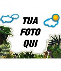 Cornice foto di vegetazione e nuvole per decorare le vostre foto