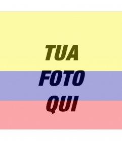 Fotomontaggio con limmagine della bandiera della Colombia e foto