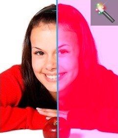 """Modifica la tua foto con questo effetto foto e cambiare il colore dell""""immagine da una serie di rose. Non c""""è bisogno di scaricare nulla, perché si può farlo gratuitamente on-line a questa pagina"""