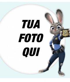 Effetto foto con il coniglietto Judy Hopps di Zootopia film