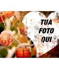Cuore di Natale a mettere foto di copertina su Facebook