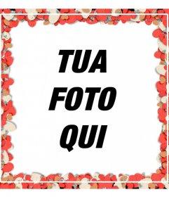 Photo frame per le coppie con cuori di coriandoli