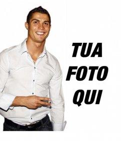 Fotomontaggio per mettere la tua foto con Cristiano Ronaldo