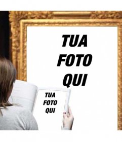 Fotomontaggio di mettere una foto di voi una foto di un museo