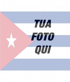 Collage di mettere la bandiera di Cuba con la vostra foto