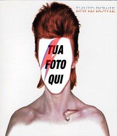 Fotomontaggio con la copertina del CD di David Bowie