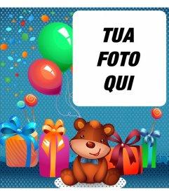 Compleanno eCard per bambini con un orso