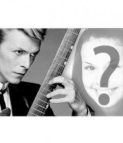 Montage per la foto di copertina con il cantante David Bowie e