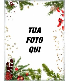 Cartolina con decorazioni natalizie per personalizzare la vostra immagine
