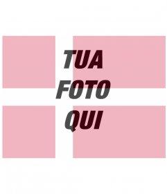 Fotomontaggio in cui si può mettere la tua foto con la bandiera della Danimarca