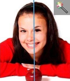 Filtro contorni foto di rilevamento per la foto on-line