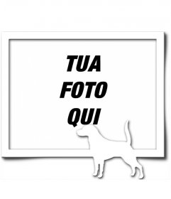 Cornice Digitale, che consiste di un bordo grigio e bianco silhouette di un cane con la coda sollevata, come se avesse trovato un sentiero