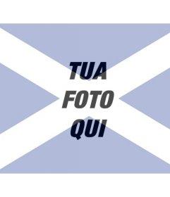Collage speciale con la bandiera scozzese