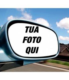 Fotomontaggio con la tua foto in uno specchio auto