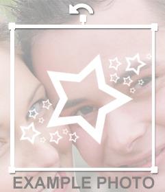 Decorativi stelle bianche a bastone su vostre immagini on-line