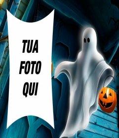 Cornice di Halloween con un fantasma