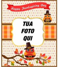 Cartoline e cornici per il Ringraziamento