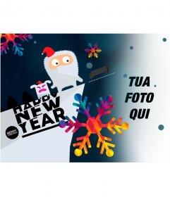 Fotomontaggio di disegno per congratularsi con il nuovo anno