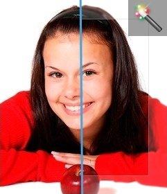 Filtro per le foto, il quadro sfocato per dare un effetto speciale alle vostre foto