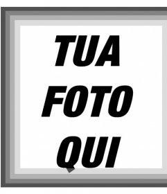 Cornice per foto con varie tonalità di filtro grigio e bianco e nero per le foto