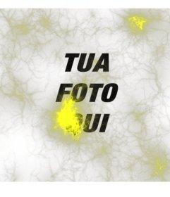 Strano foto con le luci gialle o neuroni di tipo ray per mettere su le foto e modificarle online