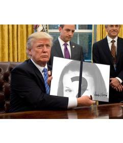 Fotomontaggi di Donald Trump per mettere le tue foto