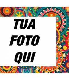 Telaio con dettagli colorati ed etnici per decorare le vostre foto per