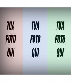 La tua foto ripetuto quattro volte con un filtro di colore con questo effetto