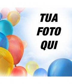 Effetto foto con palloncini per decorare le immagini per