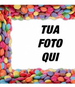 Circondati le tue foto con le caramelle colorate modifica di questo effetto libero