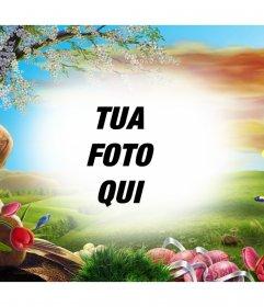 Foto effetto di un paesaggio allalba per modificare con la vostra immagine