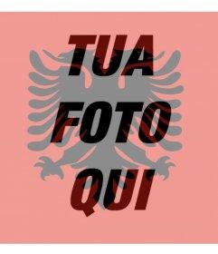 Filtro per immagini con la bandiera dellAlbania perfetto per la vostra immagine del profilo