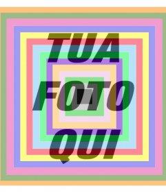 Aggiungere quadrati colorati sopra le tue foto come un filtro in linea