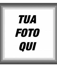 Telaio con bordi grigi dove puoi aggiungere la tua fotografico online