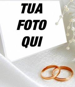 Effetto Foto con due anelli di nozze di caricare una foto