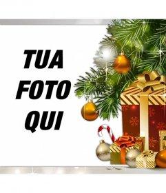 Effetto Foto di regali di Natale per caricare la tua foto