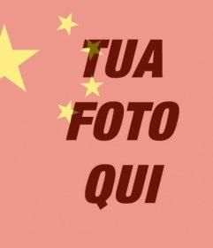 Bandiera della Cina per mettere su la tua foto