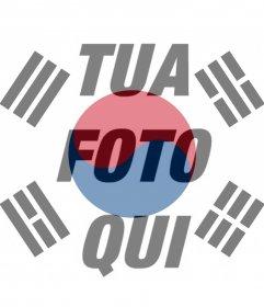 Filtro di bandiera della Corea del Sud alla foto