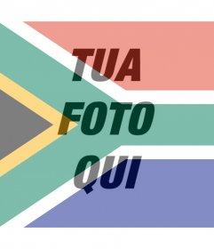 Effetto Foto della bandiera del Sud Africa per la tua foto