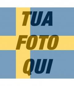 Effetto Foto della bandiera svedese per la tua foto