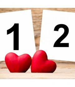 Fotomontaggio di Love per caricare due foto