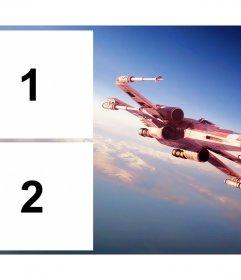 Effetto Foto per le foto con la nave X-Wing di Star Wars
