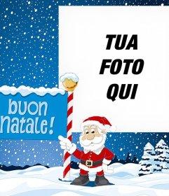 Effetto photo Natale di caricare la tua foto