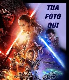 Effetto Foto di Star Wars VII manifesto di caricare la tua foto