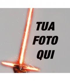 Effetto Foto di Kylo Ren spada laser per la tua foto