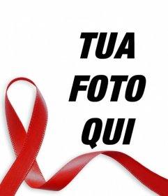 Nastro rosso contro l'AIDS da mettere nella tua foto online