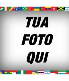 Tutte le bandiere del mondo nella tua foto