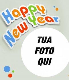 Felice Anno Nuovo fotomontaggio alla foto