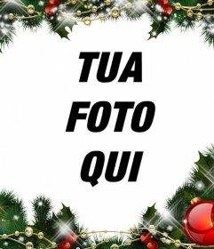 Online picture cornice della ghirlanda di Natale per la vostra foto