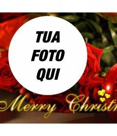 Effetto Foto di Natale con una candela per la vostra foto